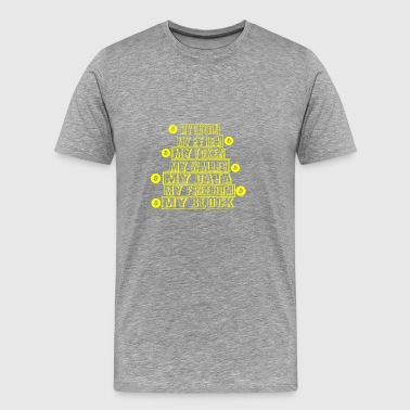 GIFT - BITCOIN 1 YELLOW - Men's Premium T-Shirt
