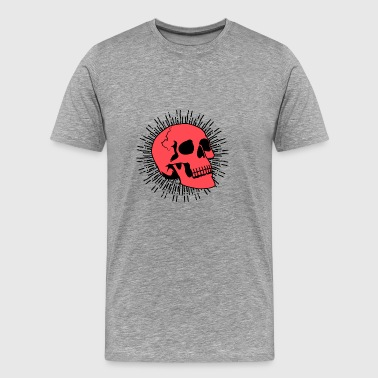 Red Skull Burst - Men's Premium T-Shirt
