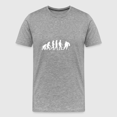 Funny Evolution Hockey T-shirt - Men's Premium T-Shirt
