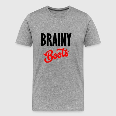 brainy boots - Men's Premium T-Shirt