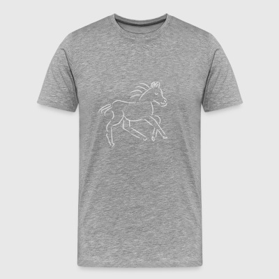 gallopping horse stallion Mare drawing stud ride - Men's Premium T-Shirt