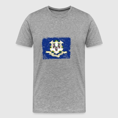 Connecticut Vintage Flag - Men's Premium T-Shirt