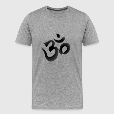 calligraphy om - Men's Premium T-Shirt