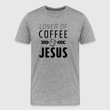Lover of Coffee & Jesus - Men's Premium T-Shirt