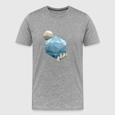 Dungeons and Dragons (DnD) Watercolour D20 - Men's Premium T-Shirt