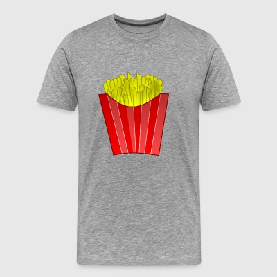 french fries pommes frites fastfood fast food9 - Men's Premium T-Shirt