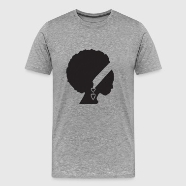 African American Woman Silhouette Black Beautiful - Men's Premium T-Shirt