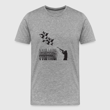 Hunting Goose Rifle Gun Wildlife Season Weapon - Men's Premium T-Shirt