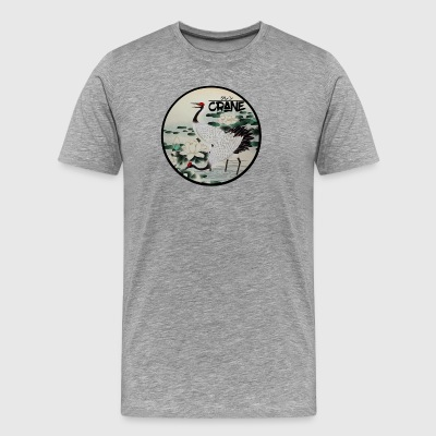 Cranes in Lake - Men's Premium T-Shirt