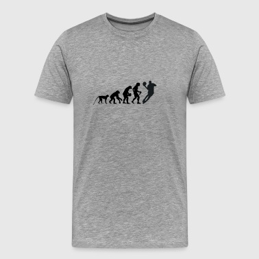 The Evolution of Basketball - Men's Premium T-Shirt