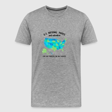 National Park T Shirts Listing all 59 Parks - Men's Premium T-Shirt