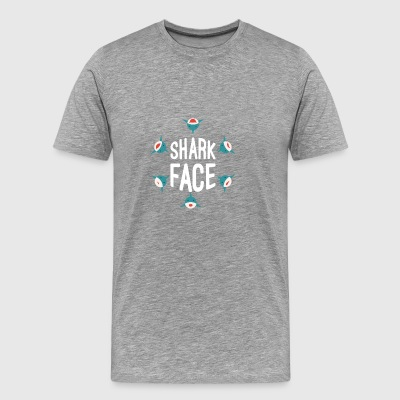 Shark Faces Five Cute Baby Sharks Sea Water Animal - Men's Premium T-Shirt