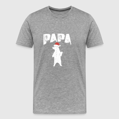 Papa Bear Santa Christmas Holiday Gift Giving Time - Men's Premium T-Shirt