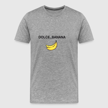 dolce and banana art satire fashion sign parodie - Men's Premium T-Shirt