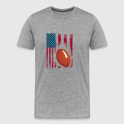 football american flag sport team club ball - Men's Premium T-Shirt