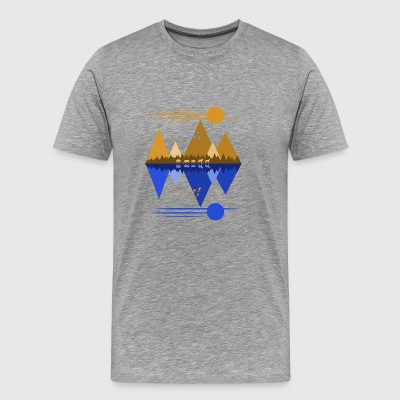 Wolf Pack Passage 2-Tone - Men's Premium T-Shirt