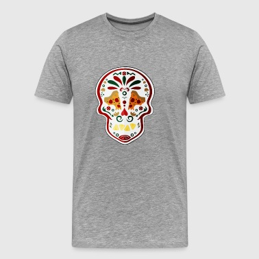 Pizza Skull day of the dead - Men's Premium T-Shirt