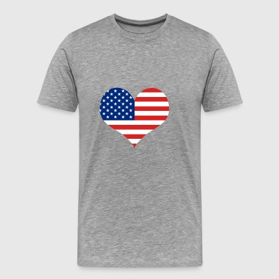 Big Heart - Fourth of July | Independence Day - Men's Premium T-Shirt