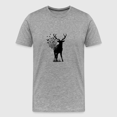 Deer Butterfly - Men's Premium T-Shirt