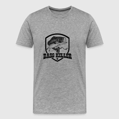 Bass killer ( A Big Fish killer in the sea) - Men's Premium T-Shirt