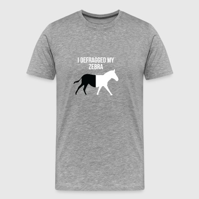 Defragged Zebra gift for Nerds - Men's Premium T-Shirt