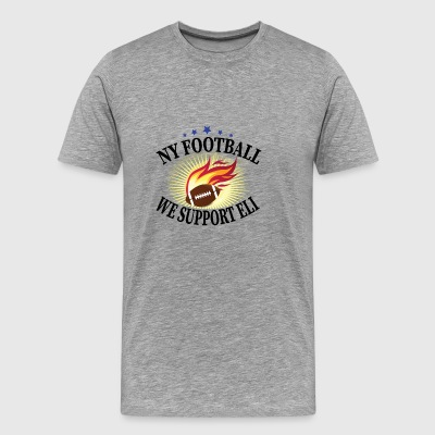 NY Football We Support Eli - Men's Premium T-Shirt