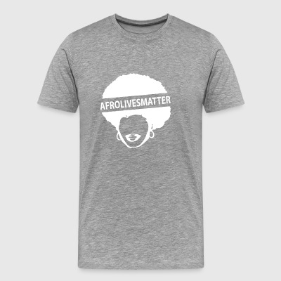 afrolives matter black - Men's Premium T-Shirt