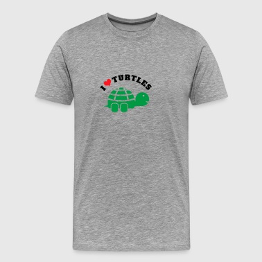 I Love Turtles | Turtles and Pets Lovers - Men's Premium T-Shirt