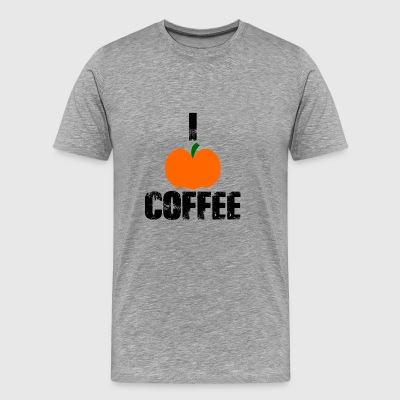 I Pumpkin Coffee | Pumpkin Favorite |I love Coffee - Men's Premium T-Shirt