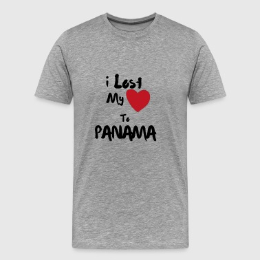 I lost my Heart to Panama Illustrated - Men's Premium T-Shirt