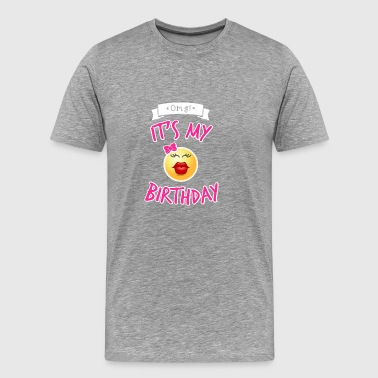 It s My Birthday i Pink - Men's Premium T-Shirt