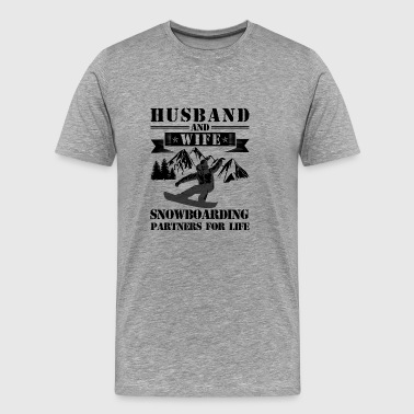 Husband And Wife Snowboarding T shirt - Men's Premium T-Shirt