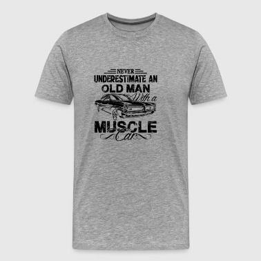 Old Man With A Muscle Car T shirt - Men's Premium T-Shirt