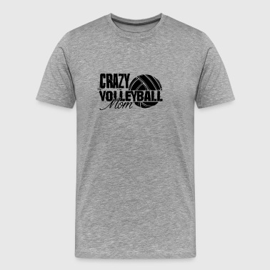 Crazy Volleyball Mom T Shirt - Men's Premium T-Shirt