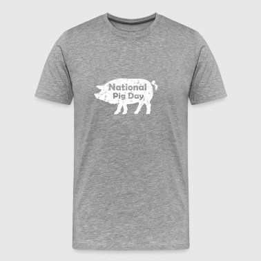 National Pig Day Funny Gift - Men's Premium T-Shirt