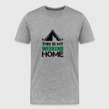 This Is My Weekend Home Camping and Outdoor Life - Men's Premium T-Shirt