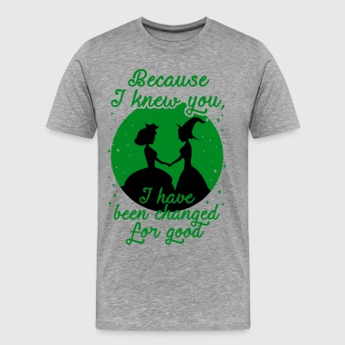 Because I Knew You, I've Been Changed For Good. - Men's Premium T-Shirt