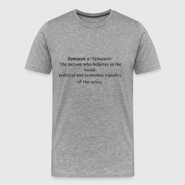 Feminist Definition Black - Men's Premium T-Shirt