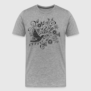 Flower bird set - Men's Premium T-Shirt