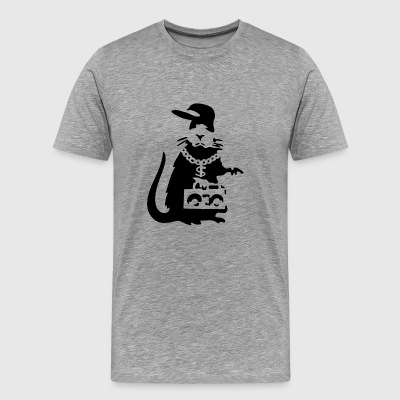 Banksy Gangster Rat Rapper - Men's Premium T-Shirt