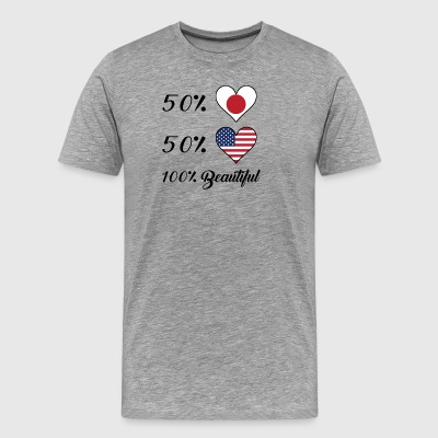 50% Japanese 50% American 100% Beautiful - Men's Premium T-Shirt