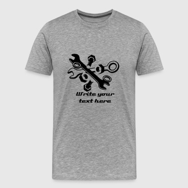 Screws, nuts and wrench  - Men's Premium T-Shirt