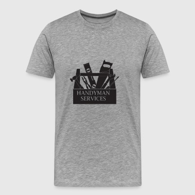 Handyman Service Repairman Builder Workman Tools - Men's Premium T-Shirt