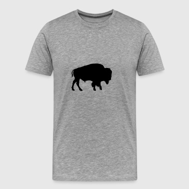 bison native american - Men's Premium T-Shirt