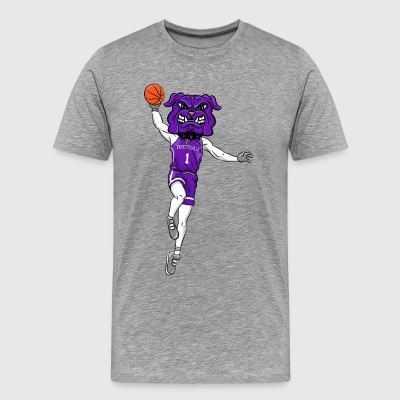 custom bulldog mascot purple basketball - Men's Premium T-Shirt