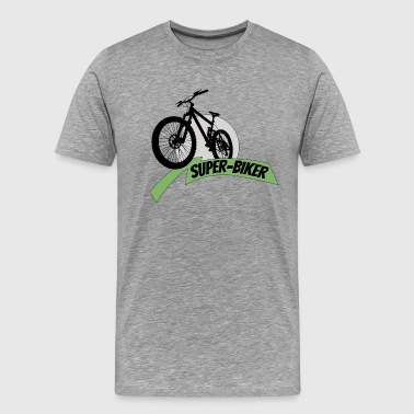 Bike Super Biker biking Superhero present gift - Men's Premium T-Shirt