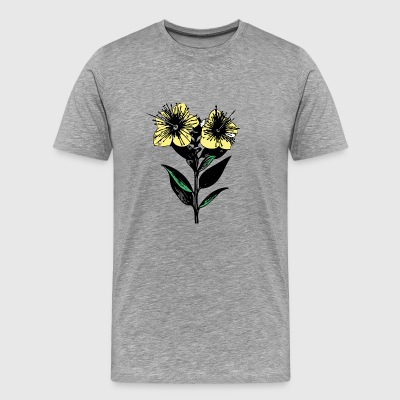 Flower Sketch - Men's Premium T-Shirt