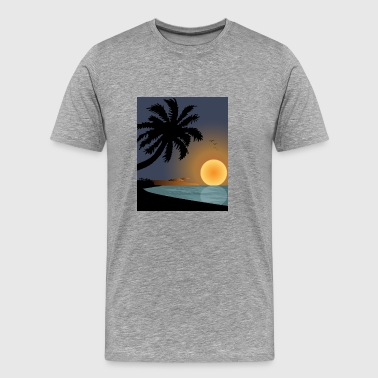 Sunset On Beach Graphics - Men's Premium T-Shirt