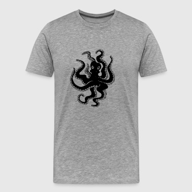 black octopus - Men's Premium T-Shirt