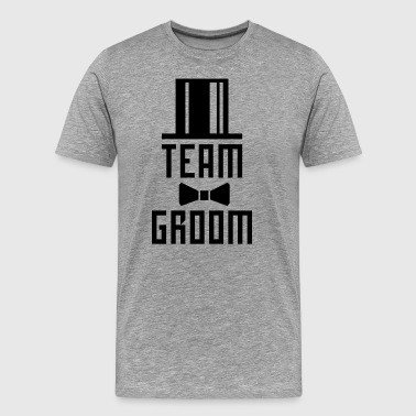 14 Team Groom Bachelor Party JGA Cylinder Hut BFF - Men's Premium T-Shirt